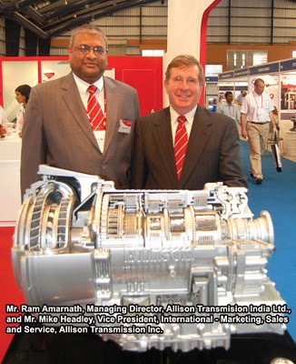 allisons  automatic transmission  buses delivered  india