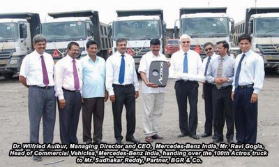 The first customer of mercedes benz now owns 100 actros for Who owns mercedes benz now
