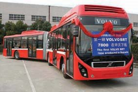 Volvo launches BRT bus in China
