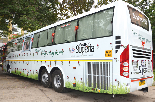 Volvo multi-axle buses with extra features for KSRTC