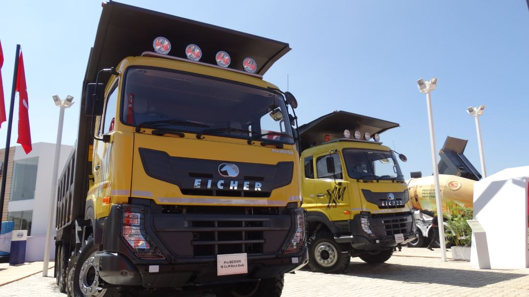 eicher unveils new pro 6000 and 8000 range of tippers. Black Bedroom Furniture Sets. Home Design Ideas
