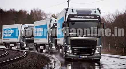 European truck industry move for semi-automated convoys by 2023