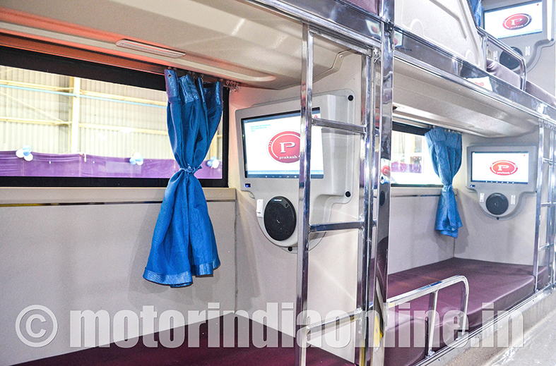 prakash bus corp  unveils  u2018celeste u2019 luxury sleeper coach