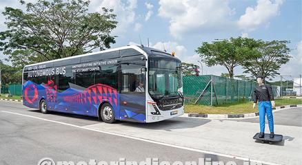 NTU Singapore, Volvo unveil world's first full size, autonomous electric bus